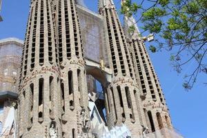 sagrada familia basiliek, barcelona, spanje foto