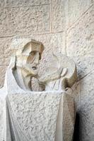 architectonische details van de sagrada familia barcelona foto