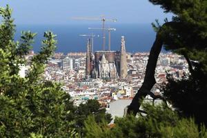 barcelona, spanje, sagrada familia foto