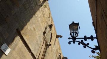 de gotische wijk van Barcelona foto