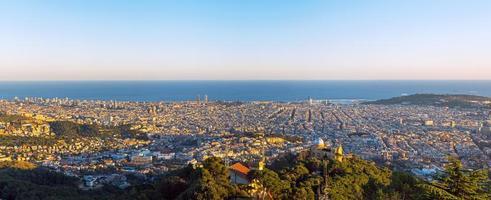 panorama van barcelona foto
