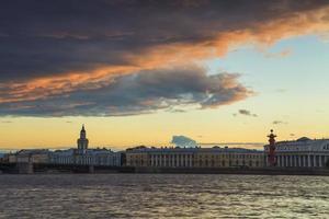 Vasilevsky-eiland, st. Petersburg. Rusland. foto
