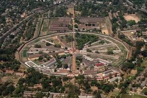luchtfoto van de gevangenis insein foto
