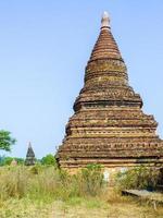 pagode in bagan (heidens), mandalay, myanmar foto