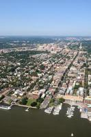 luchtfoto van het centrum van alexandrië foto