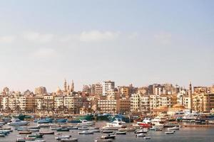 panorama uitzicht over alexandrië, egypte.
