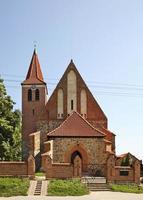 kerk van st. Catherine van Alexandrië in Grzywna. Polen foto