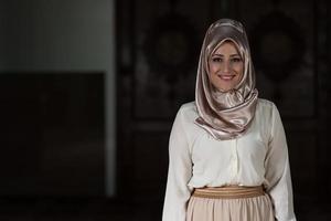 portret van jonge moslimvrouw