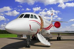 vliegtuig voor vip-vluchten foto