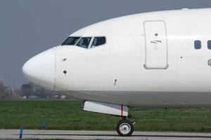 neus van vliegtuig foto