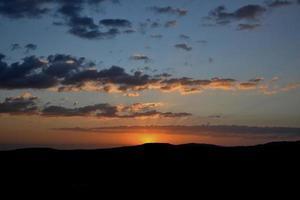 Ethiopisch landschapssilhouet foto