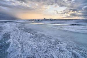 bevroren landschap foto