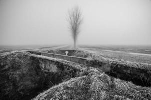 Italiaans plattelandslandschap in de winter