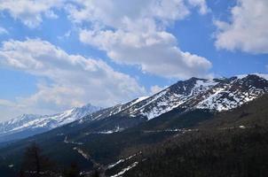 sneeuw bergketen landschap foto
