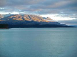 alpine landschap in Nieuw-Zeeland
