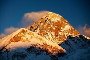 prachtig landschap van bergen van de Himalaya foto