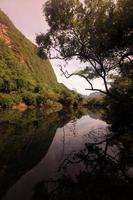 Azië lao tha khaek landschap
