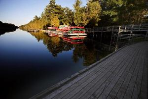 verhuur van kano's Lake Huron foto
