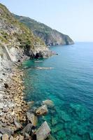 kustlijn, cinque terre foto