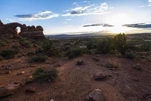 bogen np woestijnlandschap in utah foto