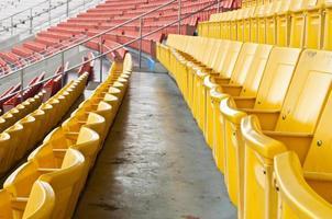 openbare nationale stadion hoofdtribune. foto