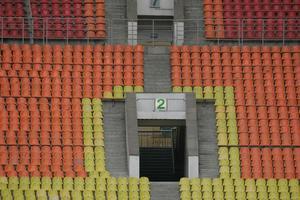stadion na de wedstrijd foto