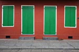symmetrie: huismuur foto