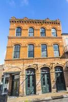 gebouw in de Franse wijk in New Orleans foto