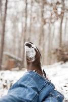 rustieke winterstop foto