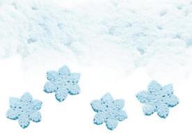 winter sneeuw achtergrond. sneeuwvlokken foto