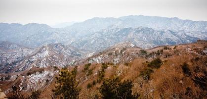 Chinese grote muur in de winter foto