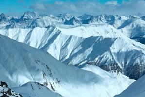 silvretta alpen winter uitzicht (oostenrijk).