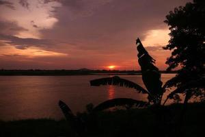 azië lao mekong rivier savannakhet foto