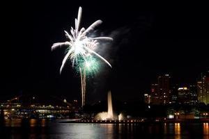 vuurwerk in Pittsburgh foto