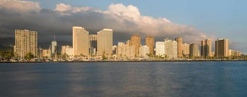 panorama van Waikiki Honolulu Hawaï foto