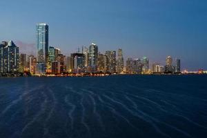 miami skyline schemering