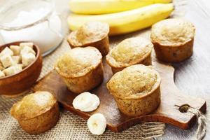 banaan muffins foto