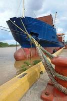 schip in de haven foto