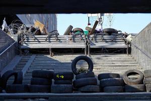 barricades in Kiev foto