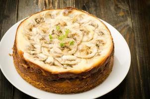 banaan caramel cheesecake foto