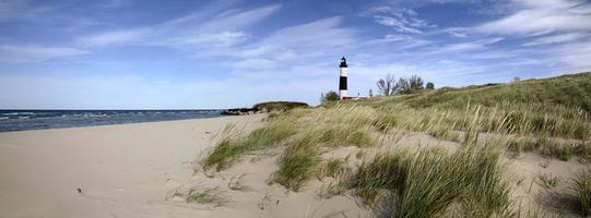 grote sable point vuurtoren foto
