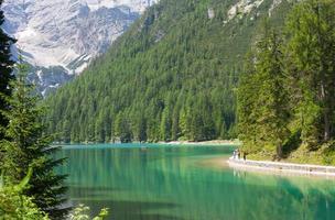 Lake Braies, Dolomieten foto