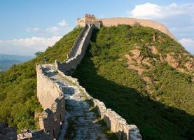 weergave van de grote muur van china gelegen in de provincie hebei