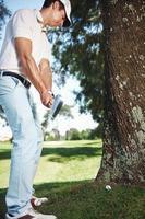 golf in ruw foto