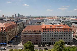 Berlijn Duitsland stadsgezicht uitzicht van bovenaf