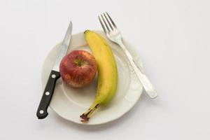 appel en banaan foto