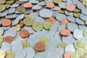 muntgeld, Thais muntgeld, muntgeldachtergrond foto