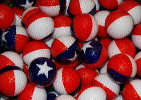 unieke golfballen met Texas en Puerto Rico thema foto