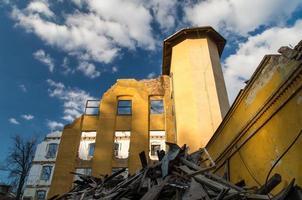 de ruïnes van een textielfabriek foto