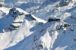 skigebied in de Dolomieten foto